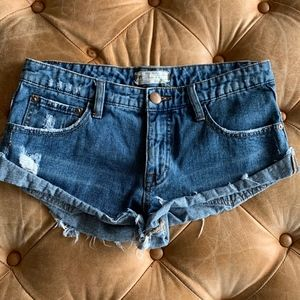 Free People Short Shorts Size 25